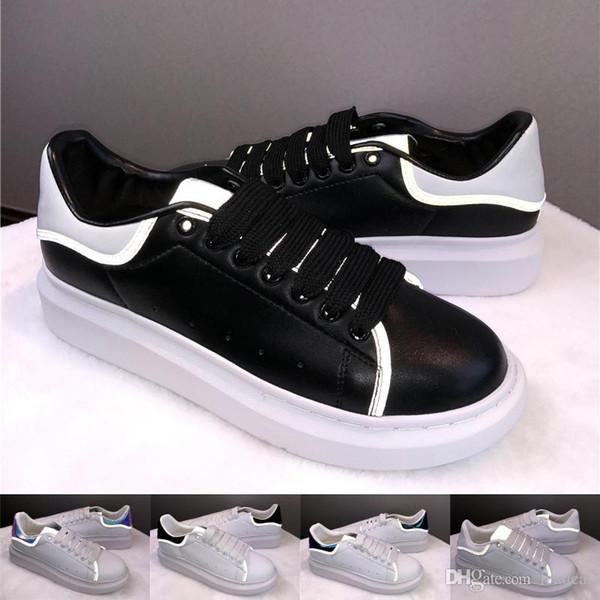 Ucuz Mens Womens Tasarımcı Lüks Siyah Beyaz Rahat Ayakkabılar En Yüksek Kalite Moda Sneakers Parti Platformu Ayakkabı Kadife Chaussures Sneaker