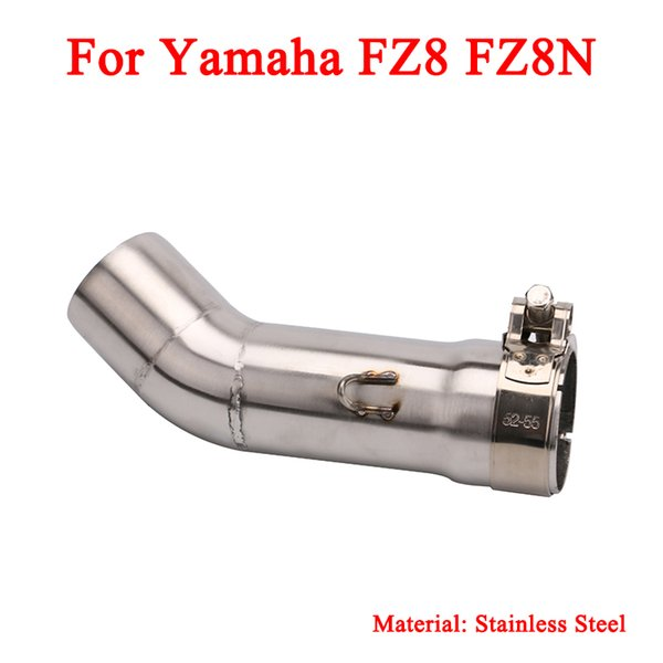 FZ8 FZ8N Motorcycle Stainless Steel Middle Connecting Pipe Link 51mm Exhaust Muffler Tubes For Yamaha FZ8 FZ8N