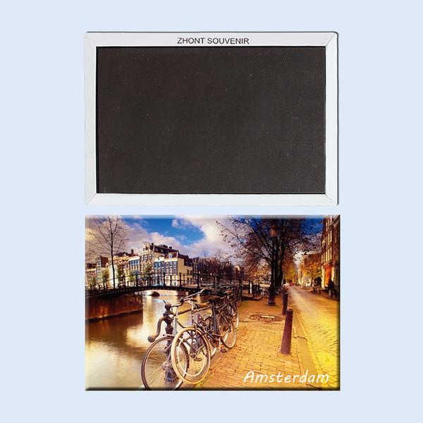 Decoración del hogar imán de frigorífico Amsterdam Países Bajos recuerdos de Turismo 22531 Paisaje refrigerador magnético regalos para los amigos