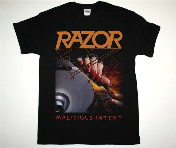 Custom Made Good Quality T Shirt Crew Neck Razor Malicious Short Gift Shirts For Men
