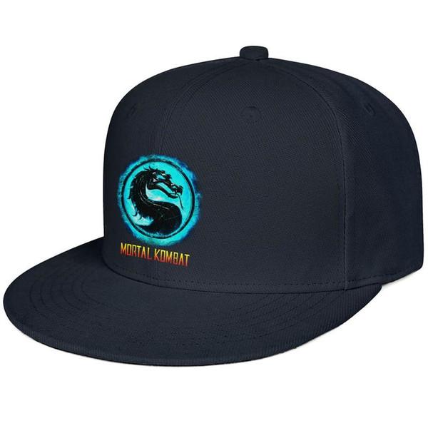 Womens Mens Flat-along Adjustable Mortal Kombat logo cool Punk Hip-Hop Cotton Baseball Hat Bucket Sun Hats Flat Top Hat Airy Mesh Hats For