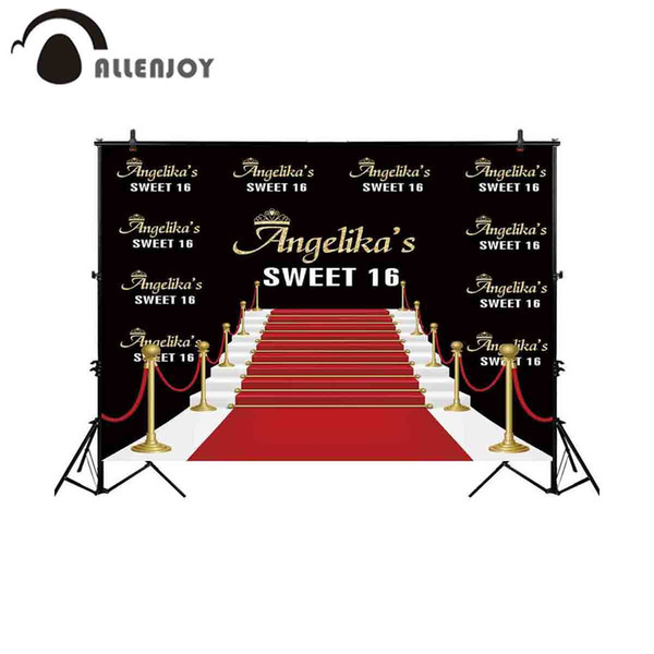 hoto Studio Backgrounds Allenjoy backgrounds for photography studio golden steps road red carpet sweet 16 backdrop birthday party customi...