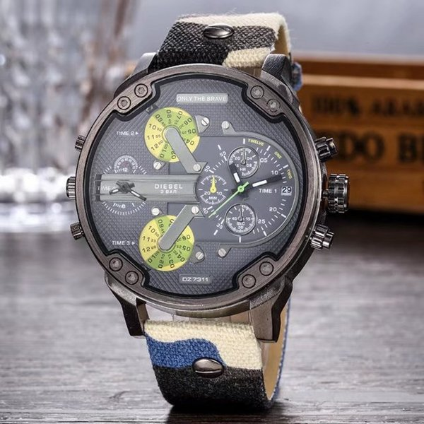 huge inventory high quality more photos Acquista Sport Di Lusso Militare Montres Mens Nuovo Originale Reloj Grande  Quadrante Display Diesel Orologio Dz Orologi Dz7331 DZ7332 DZ7315 DZ4281 ...