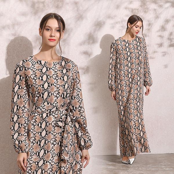 2010# Nation Wind Autumn And Winter New Pattern Long Sleeve Will Ma Xianshou Stripe Dress