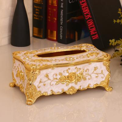 Acrylic Tissue Box Universal Luxury European Paper Rack Office Table Accessories Home Office KTV Hotel Car Facial Case Holder