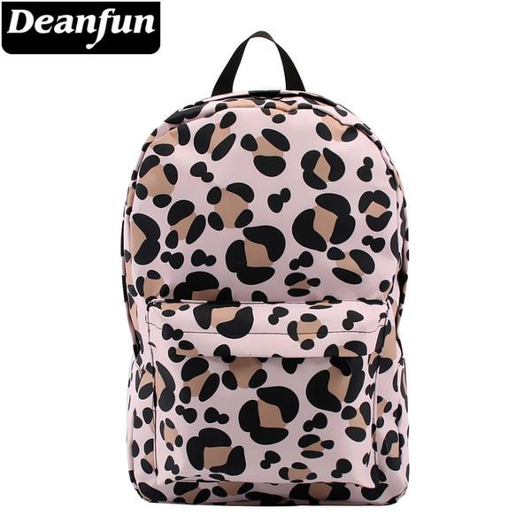 Zaino Deanfun for Girls Leopard modello resistente all'acqua Classic zaini scuola adolescente Travel Bag regalo 80048