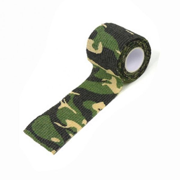 Hot Sale Camouflage Tape Adhesive Camping Hunting Camo Stretch Bandage for Gun Cloths Camera Flashlight Bicycle Motorbike 4.5 #321046
