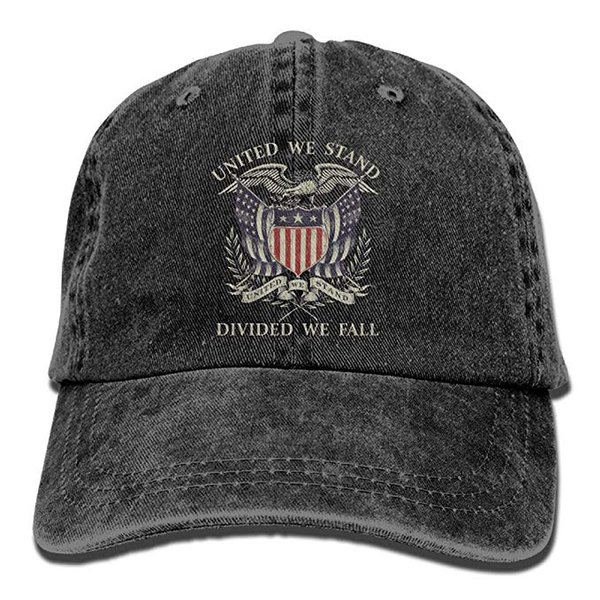24974370 2019 New Wholesale Baseball Caps United We Stand Divided We Fall Mens  Cotton Adjustable Washed Twill Baseball Cap Hat