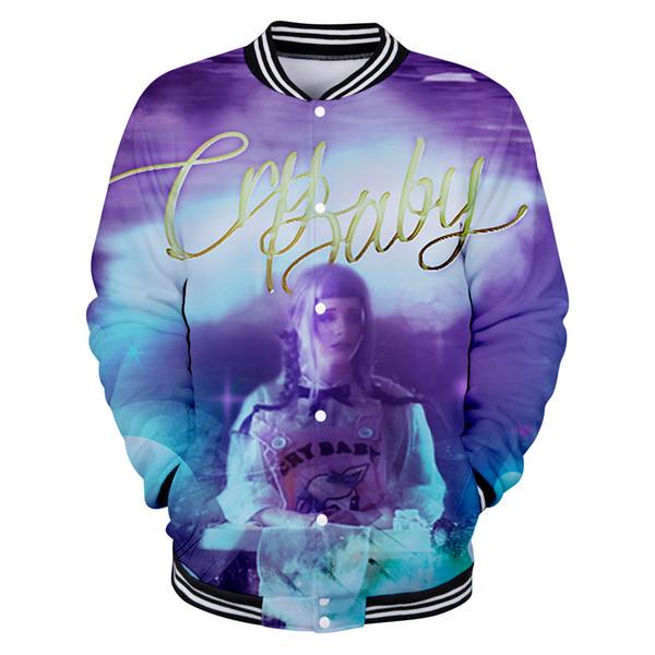 CRY BABY Baseball uniform Image personality pattern popular loose comfortable sweatshirt lovers shirt