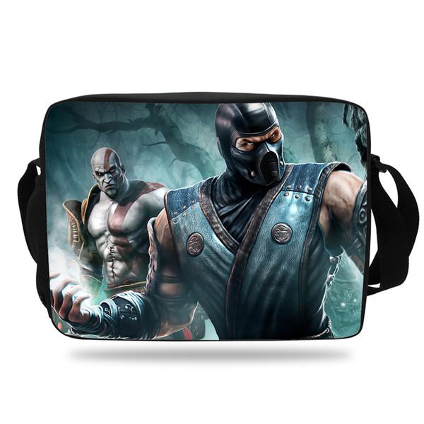 Cool Film Bag For Teenaers Mortal Kombat Mens Messenger Shoulder Bag Women Messenger For Girls Boys Kids School