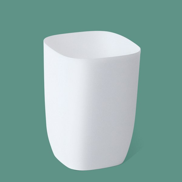 white-layer trash can