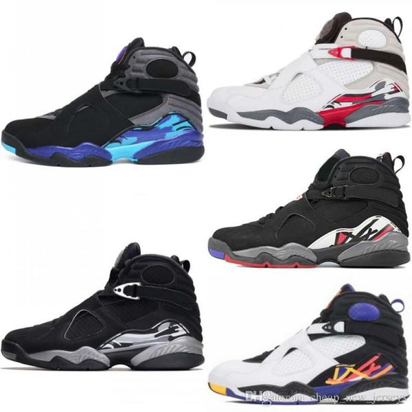 Новый 8 Aqua lfssba Chrome Playoffs Три Peat Champane Bugs Bunny Мужская баскетбольная обувь Кроссовки Дешевые 8s Basket Ball Спортивная обувь h3a