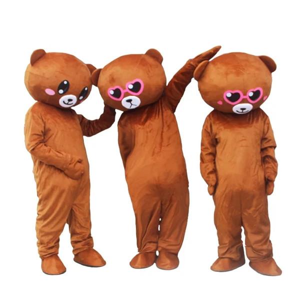 Acheter Réseau National Ours Rouge Robe Marionnette Habillement Mascotte Adulte Ours Ben Dessin Animé Poupée Tremble Bear Flyer Net Rouge Vêtements De