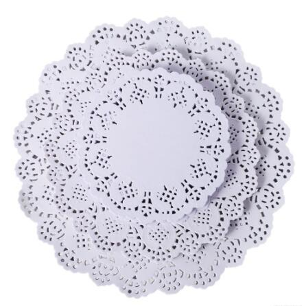Round Lace Paper Mats Coasters Placemats Wedding Events Party Table Gift