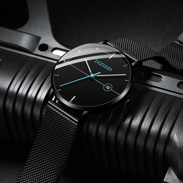 Ultrathin Wrist Watch Man Student Waterproof Non Fully Automatic Mechanics Steel Sheet Bring Belt Concise