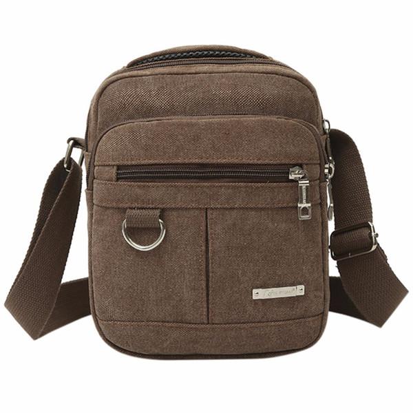Men's Fashion Travel Cool Canvas Bag Men Messenger Crossbody Bags Bolsa Feminina Student Military Zipper Messenger Bag 2019
