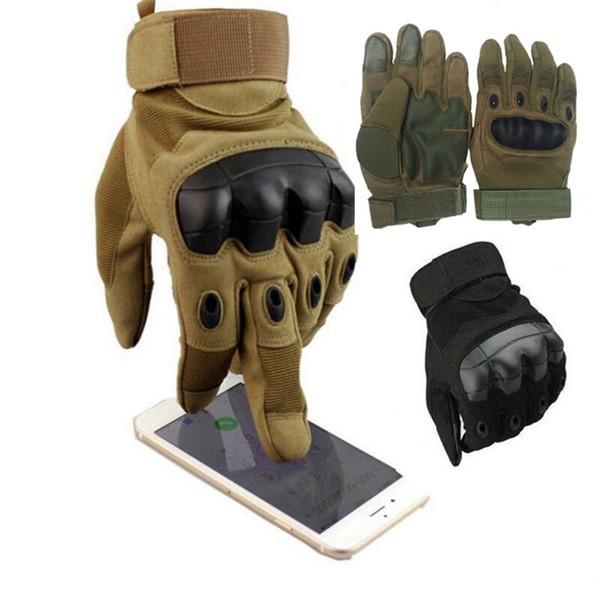 Pantalla táctil guantes tácticos del nudillo duro Ejército de caza militar Disparo de combate Guantes Guantes de deportes al aire libre La bicicleta de ciclo