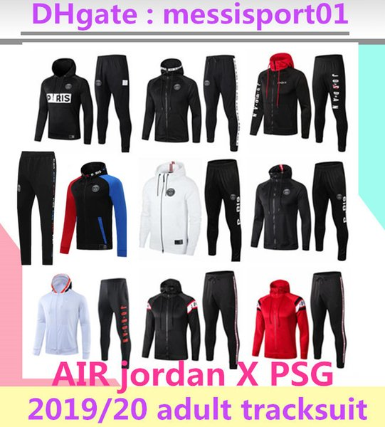 best selling 2019 2020 paris PSG jacket hoodie Survetement 1920 paris PSG MBAPPE football jacket air jordam soccer TRACKSUIT