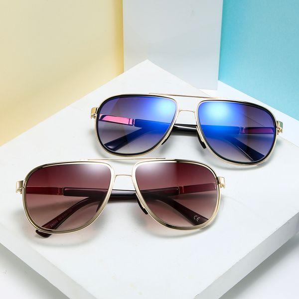 Erkekler Kadınlar Alaşım Çerçeve Çift Işın UV400 Lens Retro Güneş İş Casual Gözlük Moda için Vintage Güneş