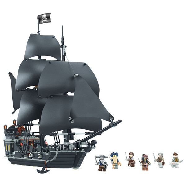 Pearl пиратского корабля головоломка детские игрушки сборки маленького частица строительных блоков мальчик