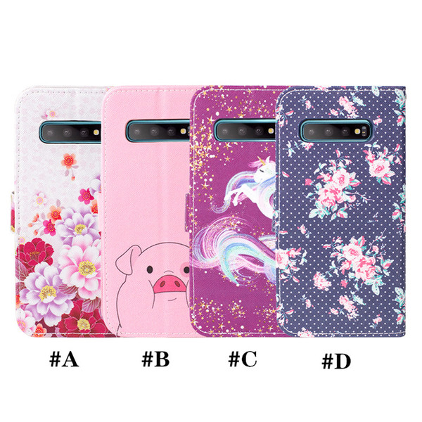 Wallet Phone Case For Samsung Galaxy A10 A20 A30 A40 A50 A70 Printed Cute Pink Pig PU Leather stand Flip Cover