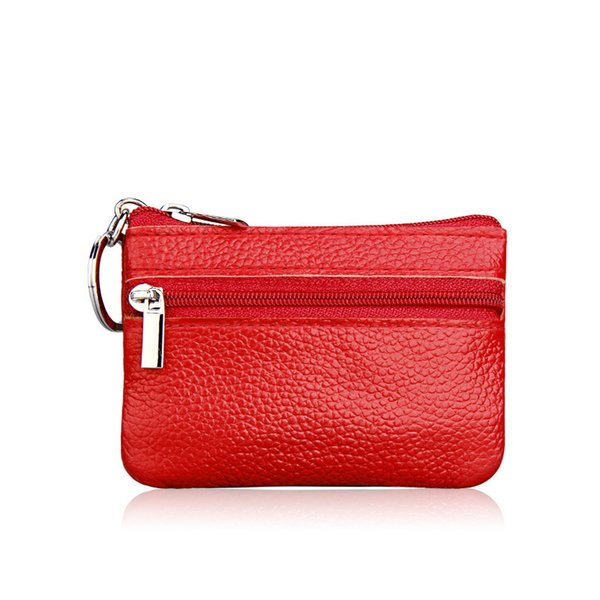 fashion women vintage lady wallet clutch short small coin purse new soft solid one zip square bag