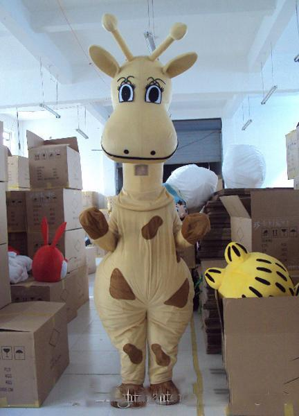 2019 горячая распродажа желтый жираф костюм талисмана персонажа из мультфильма бесплатная доставка