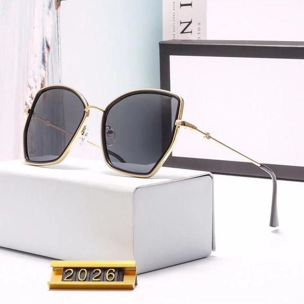 gucci GG2026 neue luxus designer sonnenbrillen vergoldung titan frauen brillen hochwertige brillen uv400 schutz kommen mit marke