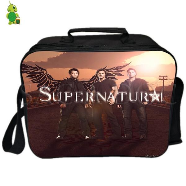 Supernatural Sam Dean Lunch Bag Thermal Insulation Cooler Bag Ice Pack Women Men Camping Shoulder Fresh Keeping Picnic