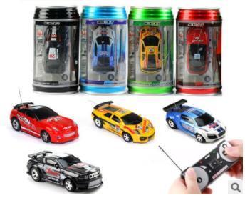 New Mini-Racer Remote Control Car 8 Color Coke Can Mini RC Radio Remote Control Micro Racing Car 1:63 Kids rc cars Toys