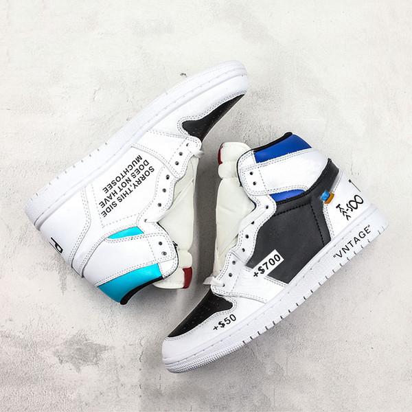 Revéndeme X25 W10 Zapatos de baloncesto 1s Divertido diseñador de moda Líder 2019 Negro Blanco Azul Hombres Zapatillas deportivas