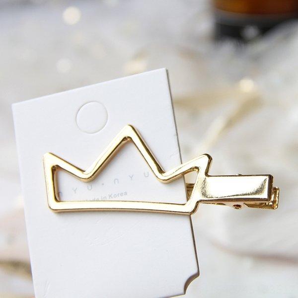 8cm-Golden Crown smooth Press clip