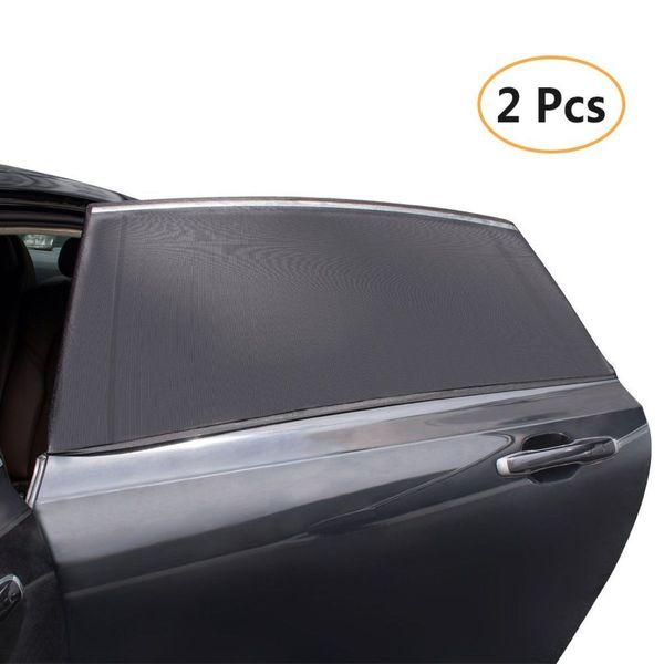 2Pcs/Pack Car-Styling Car Sun Shade Window Cover Sunshade Curtain UV Protection Shield Visor Mesh Dust Car Window Mesh Hot Sale