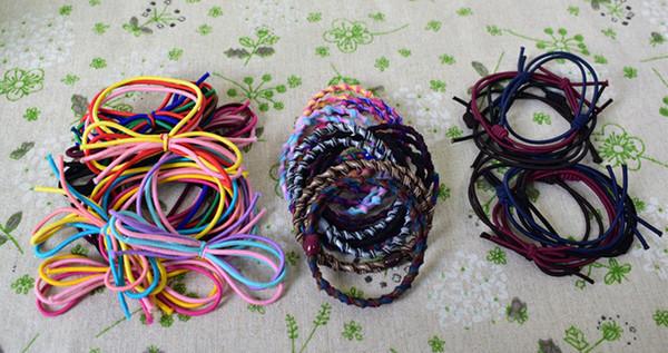 2019 Einfache Handgeknüpfte Candy Farbe Haar Ring Grundlegende Haarschmuck Gummiband Kopf Seil Schmuck Headwear