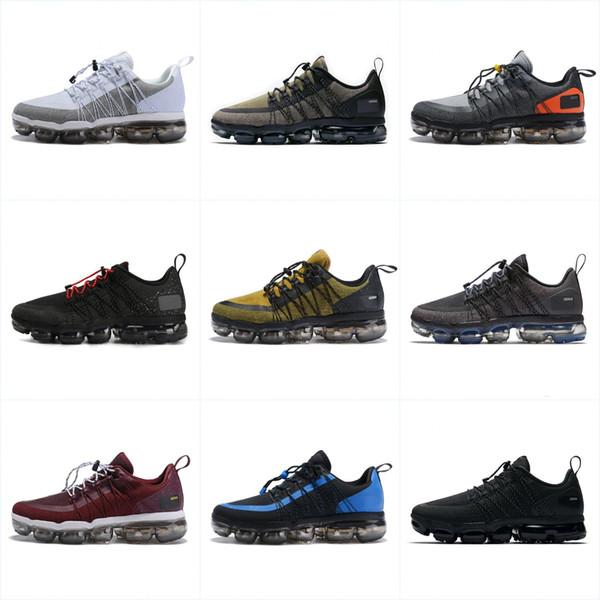 Compre 2019 Hombres Running Shoes Run Utility Mejor Calidad Negro Antracita Entrenadores Blanco Reflect Silver Zapatos De Diseñador Zapatillas