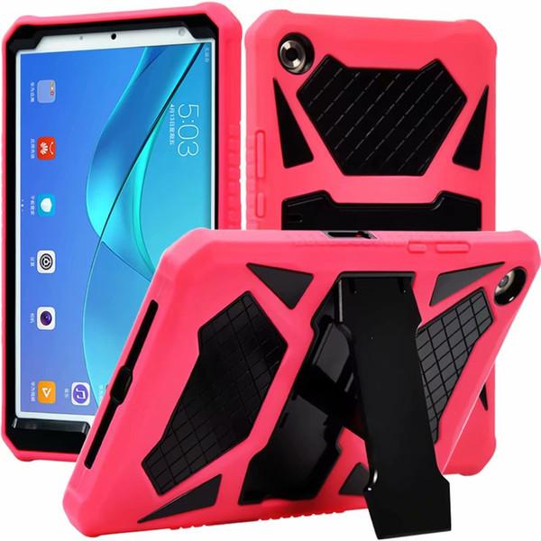 Pour Huawei Media Pad M5 8,4 pouces SHT-AL09 / W09 PC antichoc anti-chute armure durcie couverture arrière Shell Cover pour Huawei M5 8.4 + stylo