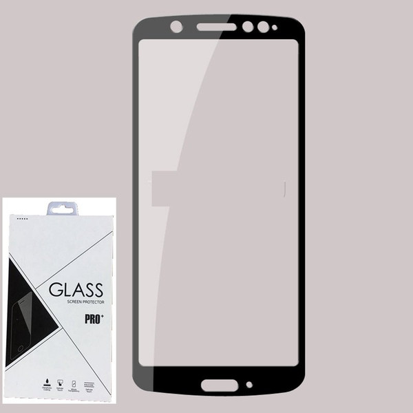 9H Full Cover Tempered Glass Screen Protector Silk Printed FOR MOTOROLA MOTO G6 plus G6 play E5 PLUS E5 PLAY 100PCS/LOT IN Retail package