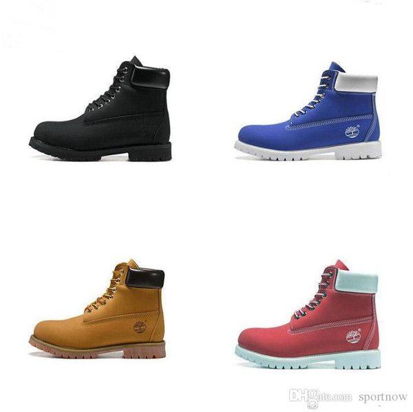 2019 Newest Boots Mens Women Designer Martin Boot Chestnut Triple Black White Camo Winter Boots size 36-46 Wholesale Dropship
