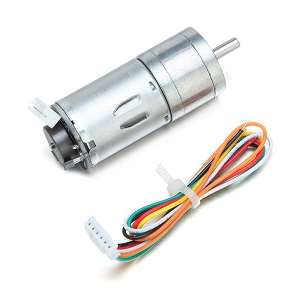 Motor de engranaje DC de alta calidad 6V 100/210 / 300RPM codificador