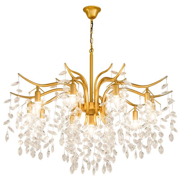 Lampadario ristorante Lampada in cristallo metallo oro / nero nuovo bar Lampadario in cristallo lampadari a sospensione lampada a sospensione lampadario in oro