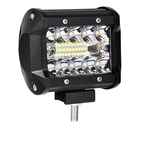 4 pulgadas LED barra de luz LED de trabajo barra ligera para conducir un camión todoterreno tractor 4x4 SUV ATV 12V 24V clasificado 60W real 15W