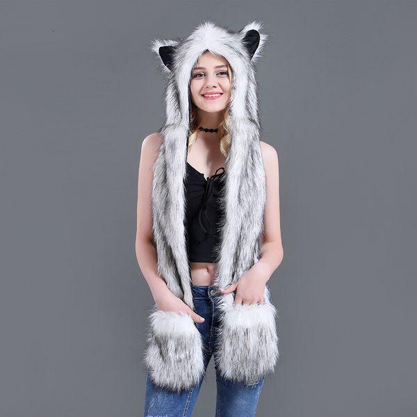 renard blanc cheveux 100c m