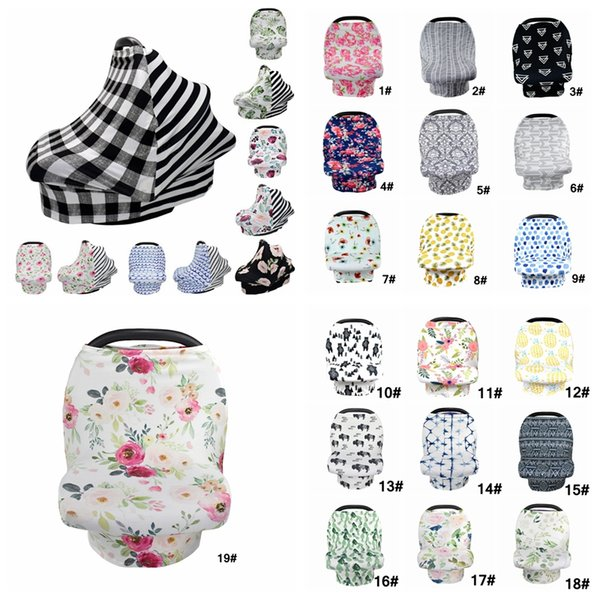 Baby Floral Feeding Nursing Cover 25Styles Newborn Toddler Breastfeeding Privacy Scarf Cover Shawl Car Seat Stroller Canopy Tools AAA2118