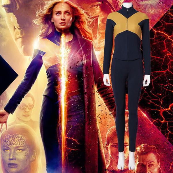 2019 X-Men Dark Phoenix Jean Grey Cosplay Costume Jacket Pants Uniform Outfit Suit For Women Girls Men Boy Halloween Carnival Costumes