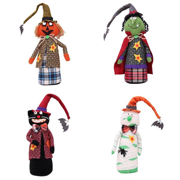 New Halloween Christmas Decorations Desktop Table Set Dolls Ghost Festival Scene Dress Up Pumpkin Witch Home Decorations