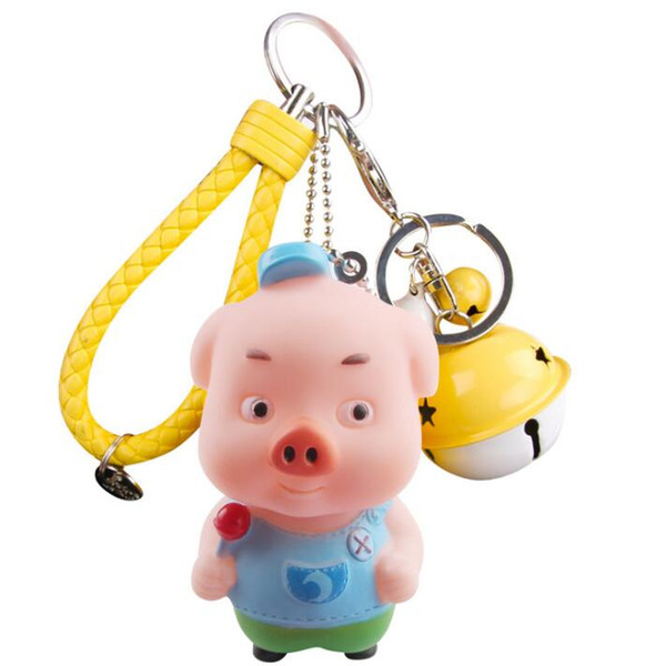 Piglet Keychains Zodiac Pig Pendant Independent Copyright Car Keychains Cute Creative Small Gift Small pendant decoration