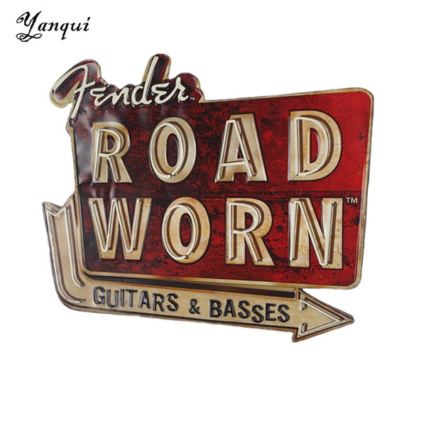 Road Worn Guitars & Basses Metal Tin Signs Retro Irregular Shape Painting Plaque Bar Pub Club Home Wall Decor Tp-017 Y19061804