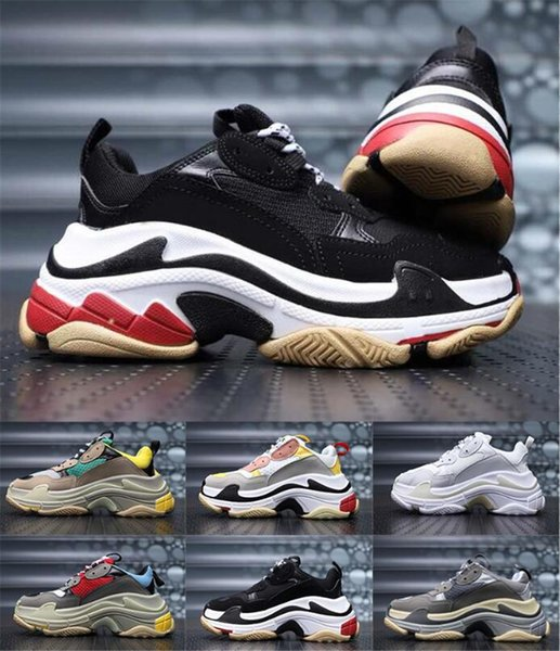 2019 new trend fashion shoes top men's and women's beige black casual shoes 29