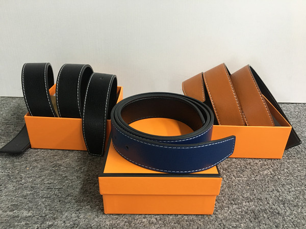 top popular men and women belts Of Mens And Women Belt With Fashion Big Buckle Real Leather Top High Quality Belts H 2021