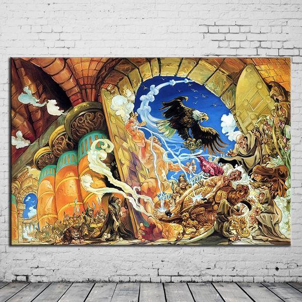 Küçük Tanrılar Terry Pratchett, Ev Dekorasyonu HD Tuval Üzerine Baskılı Modern Sanat Boyama (Çerçevesiz / Çerçeveli)